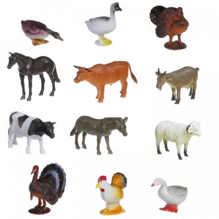 Bondibon Набор животных Ребятам о Зверятах Домашние животные и птицы 4 дюйма 12 шт.