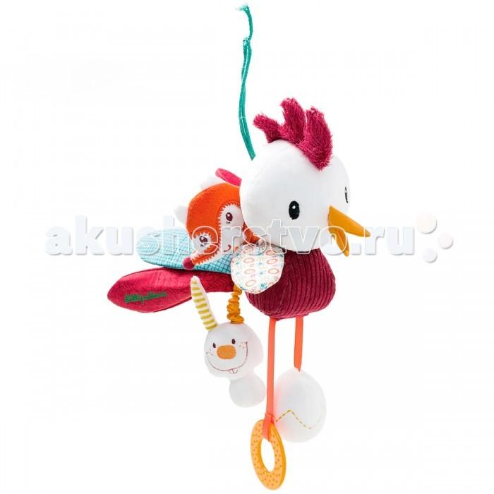 Развивающая игрушка Lilliputiens Петушок ДжонПетушок ДжонРазвивающая игрушка Lilliputiens Петушок Джон. Петушок Джон наполнен сюрпризами: зеркальце, разнообразные звуки, колокольчик. Послушай как зазвенит колокольчик, стоит только ему потрясти гребешком! А за его красивым хвостом прячется лиса Алиса и кролик. Только взгляните на его лапки! На одной из них - прорезыватель, а на другом – яйцо. Потрясите его, и вы услышите, как пищит цыпленок.<br>