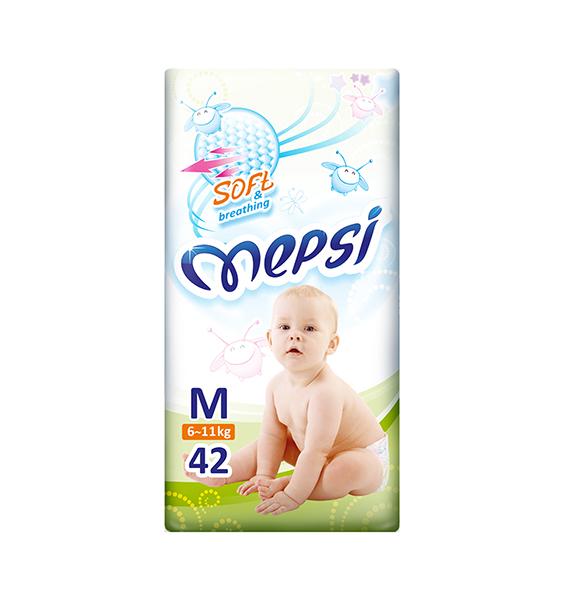 Mepsi Детские одноразовые подгузники размер M (6-11 кг) 42 шт.