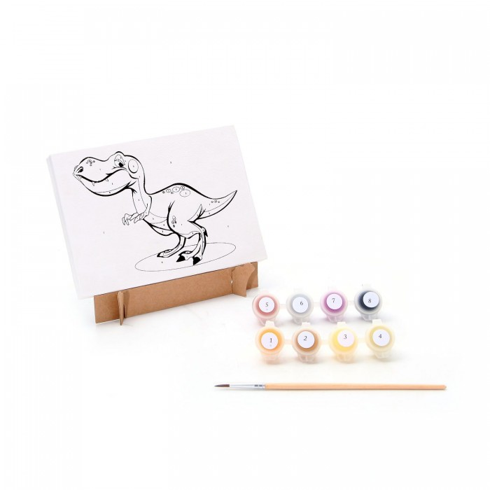Раскраска Bondibon по номерам Динозавр