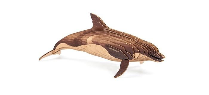 Конструктор Panda Puzzle 3D Дельфин 23 детали3D Дельфин 23 детали3D Дельфин представляет собой набор для моделирования из 23 деталей.  Сборка этой модели поможет ребенку с помощью несложных операций создать дизайнерскую фигурку дельфина, которая будет отлично смотреться в интерьере.   В процессе сборки развивается мелкая моторика, логика и пространственное мышление.   Все детали созданы из безопасного и экологически чистого картона. Отдельные детали собираются и склеиваются.   Инструкция и клей прилагаются. Размер собранной модели 43 х 20 х 14,5 см.<br>