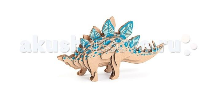 Конструктор Panda Puzzle 3D Стегозавр 18 деталей3D Стегозавр 18 деталей3D Стегозавр представляет собой набор для моделирования из 18 деталей.  Сборка этоой модели поможет ребенку с помощью несложных операций создать дизайнерскую фигурку стегозавра, по всей спине от шеи до кончика хвоста которого проходил двойной ряд костных шипов или пластин, свободно укрепленных на коже.  В процессе сборки модели развивается мелкая моторика, логика и пространственное мышление.   Все детали созданы из безопасного и экологически чистого картона. Отдельные детали собираются и склеиваются.   Инструкция и клей прилагаются. Размер собранной модели 21 х 12 х 6 см.<br>