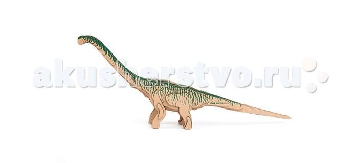 Конструктор Panda Puzzle 3D Бронтозавр 33 детали3D Бронтозавр 33 детали3D Бронтозавр представляет собой набор для моделирования из 33 деталей.  Сборка этой модели поможет ребенку с помощью несложных операций создать объемную фигурку древнего бронтозавра, одного из крупнейших динозавров. Его отличали массивное тело и относительно маленькая голова.  В процессе сборки модели развивается мелкая моторика, логика и пространственное мышление.   Все детали созданы из безопасного и экологически чистого картона. Отдельные детали собираются и склеиваются.   Инструкция и клей прилагаются. Размер собранной модели 42 х 17 х 5 см.<br>
