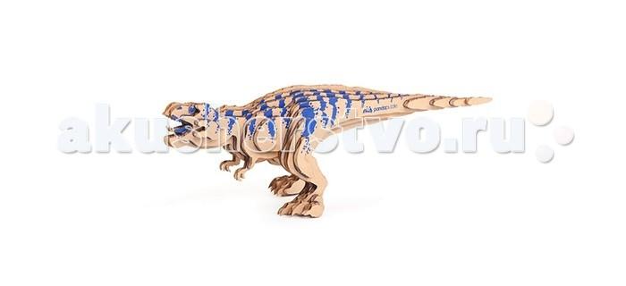 Конструктор Panda Puzzle 3D Тираннозавр 26 деталей3D Тираннозавр 26 деталей3D Тираннозавр представляет собой набор для моделирования из 26 деталей.  Сборка этой модели поможет ребенку с помощью несложных операций создать объемную фигурку тираннозавра, самого крупного хищного динозавра.  В процессе сборки модели развивается мелкая моторика, логика и пространственное мышление.   Все детали созданы из безопасного и экологически чистого картона. Отдельные детали собираются и склеиваются.   Инструкция и клей прилагаются. Размер собранной модели 26 х 9 х 8 см.<br>