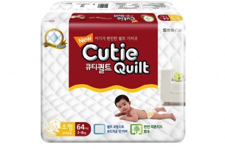 Cutie Quilt Подгузники S (3-8 кг) 64 шт.