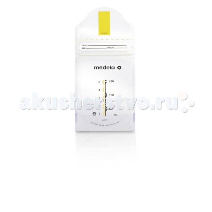 Medela Пакеты для сбора и хранения грудного молока Pump&amp;Save 150 мл 20 штПакеты для сбора и хранения грудного молока Pump&amp;Save 150 мл 20 штПакеты одноразовые Medela для грудного молока Пакеты Medela Pump & Save позволяют легко хранить грудное молоко в холодильнике или морозильной камере, занимая при этом меньше места, чем контейнеры для сбора и хранения грудного молока. Просто сцедите молоко в пакет, укажите дату в специальном окошке и положите его в холодильник. Пакеты имеют стильный вид и устойчивое дно, а также специальную застежку-молнию, позволяющую легко закрывать пакет и сделать его герметичным. Подходят ко всем молокоотсосам со стандартной горловиной. Размороженное молоко не требует стерилизации. Пакеты для сбора и хранения грудного молока Pump & Save изготавливаются из проверенного качественного пищевого материала и не содержат Бисфенола-А.  Преимущества: легкий сбор молока: сцеживайте молоко прямо в пакет, чтобы не потерять ни капли компактность: занимают меньше места, чем контейнеры для грудного молока надежность: двойные стенки для длительного хранения стерильность: идеальны с точки зрения гигиены<br>
