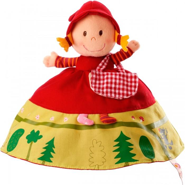 Мягкая игрушка Lilliputiens Двусторонняя Красная шапочкаДвусторонняя Красная шапочкаМягкая игрушка Lilliputiens Двусторонняя Красная шапочка. Осмелимся предположить, что эта игрушка доставит тебе массу удовольствий. Когда ты поднимешь платье Красной Шапочки - увидишь улыбающееся лицо Бабушки, затем наденешь шапочку Бабули и обнаружишь кривозубого Волка. Ах да, Волк одет в Бабушкин розовый халат в цветочек, его серые лапы торчат из клетчатых рукавов.   Забавные детали делают эту трехстороннюю мягкую куклу очень популярной, наряду с классической сказкой на экране. Путь через лес изображен в нижней части платья Красной Шапочки по кругу и заканчивается крадущимся Волком. Сумочка с фруктами и вареньем, которая открывается и закрывается щелчком, прикреплена к ее платью.   Наряд Бабушки в нижней части демонстрирует иллюстрации ее дома - столы и стулья, кровать, а на обратной стороне у Волка в одежде Бабушки на животике есть красная заплатка, изображающая Дровосека. Сними заплатку, и ты увидишь бабушку и Красную Шапочку (помни, Дровосек, в конце концов, их освобождает).<br>