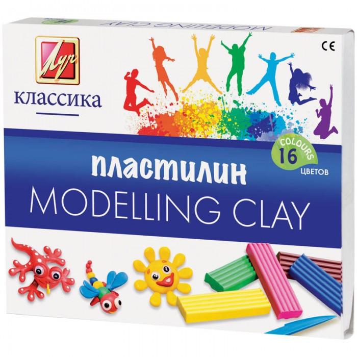 Луч Пластилин Классика 16 цветов 320гр со стекомПластилин Классика 16 цветов 320гр со стекомПластилин «Классика» предназначен для лепки и моделирования. Яркий и пластичный пластилин изготовлен из высококачественных компонентов. Идеально подходит для работы мультипликаторов. Пластилин Классика обладает следующими свойствами: легко лепится и не прилипает к рукам; идеально держит форму; имеет яркие, сочные цвета, которые легко смешиваются друг с другом. Пластилин соответствует европейским (знак СЕ) директивам безопасности. Вес бруска пластилина 20 гр.<br>