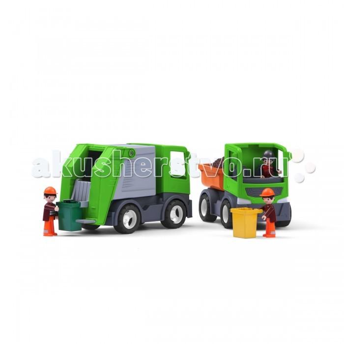 Multigo Мусоровоз со сменными кузовамиМусоровоз со сменными кузовамиГрузовик-мусоровоз 1+2. Грузовик с дополнительным контейнером для мусорных отходов осуществить мечту каждого мальчишки! Современный контейнер для сборки отходов предлагает 2 варианта опрокидывания. Мусорный бак включен в набор.<br>