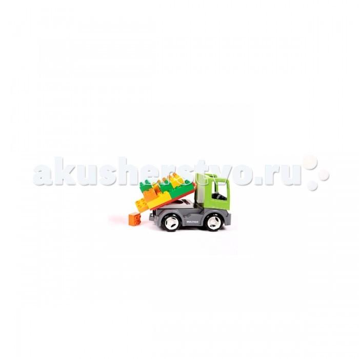 Multigo Грузовик со строительной платформой и кубикамиГрузовик со строительной платформой и кубикамиMULTIGO (EFKO) Грузовик со строительной платформой и кубиками 1+2. Благодаря строительной платформе можно перевозить любимых животных или любые другие грузы.   В набор включены: грузовик, 2 кузова и 9 разноцветных кубиков. Совместим с наборами и аксессуарами Лего Duplo и Мегаблокс.<br>