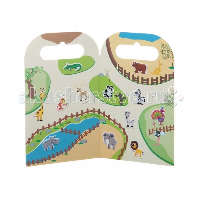 Bondibon Набор наклеек Нано-стикер В Зоопарке 12x20,5 смНабор наклеек Нано-стикер В Зоопарке 12x20,5 смНабор наклеек Нано-стикер В Зоопарке 12x20,5 см.  Каждый ребенок просто обожает яркие наклейки. Но оказывается, что наклейки могут служить не только для увлекательной игры, но и для развития ребенка.   Нано-стикеры – это яркие красочные наклейки, не имеющие клеевой или магнитной основы. Они выполнены из уникального материала – резины TPE, прочной и безопасной, их можно неоднократно использовать, и они отлично закрепляются на любой твердой поверхности.   Наборы нано-стикеров посвящены самой разнообразной тематике и позволят ребятам наглядно узнать много нового об окружающем мире. Наборы нано-стикеров являются не только интересной, но и развивающей игрой.   В каждый набор входят сами наклейки и тематическое игровое поле. Удобная упаковка позволит взять эти наборы в дорогу.<br>