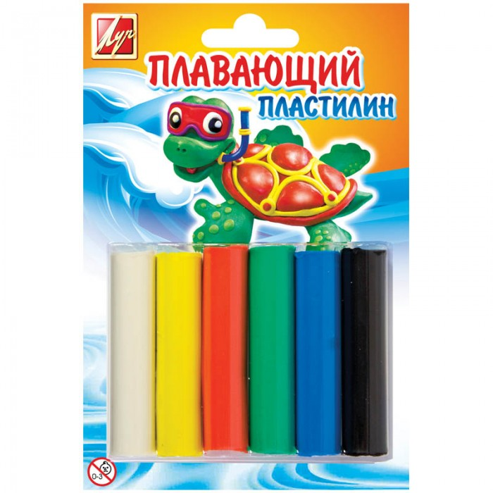 Луч Пластилин 6 цветов плавающий