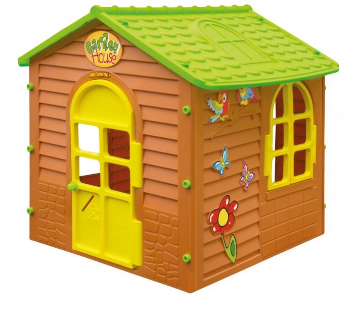 Игровой домик Mochtoys 1083010830Mochtoys Домик для игр 10830  Игровой домик Mochtoys, сделанный из высококачественная прочного пластика — это прекрасный подарок для любого ребенка. Пластиковый домик имеет окна и двери ярких тонов, которые не выцветают. Размеры домика достаточны, чтобы вместить несколько детей одновременно, что обеспечивает невероятные возможности для совместных игр малышей на свежем воздухе. Кроме того, домик для детей был сконструирована так, чтобы исключить острые края, поэтому он абсолютно безопасен для наших детей<br>