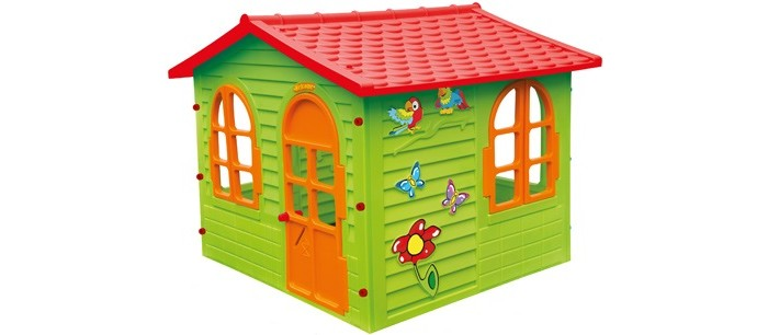 Игровой домик Mochtoys 1042510425Mochtoys Домик для игр 10425  Игровой домик Mochtoys, сделанный из высококачественная прочного пластика — это прекрасный выбор для любого ребенка. Пластиковый домик имеет окна и двери ярких тонов, которые не выцветают. Размеры домика достаточны, чтобы вместить несколько детей одновременно, что обеспечивает невероятные возможности для совместных игр малышей на свежем воздухе. Кроме того, домик для детей был сконструирована так, чтобы исключить острые края, поэтому он абсолютно безопасен для наших детей<br>
