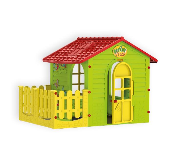 Игровой домик Mochtoys с забором 10839с забором 10839Mochtoys Домик для игр с забором 10839  Игровой домик Mochtoys, сделанный из высококачественная прочного пластика — это прекрасный выбор для любого ребенка. Пластиковый домик имеет окна и двери ярких тонов, и яркий забор которые не выцветают. Размеры домика достаточны, чтобы вместить несколько детей одновременно, что обеспечивает невероятные возможности для совместных игр малышей на свежем воздухе. Кроме того, домик для детей был сконструирована так, чтобы исключить острые края, поэтому он абсолютно безопасен для наших детей<br>