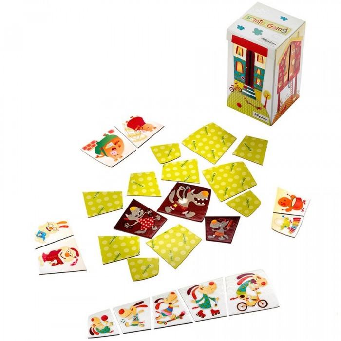 Lilliputiens Пазл Собери семьюПазл Собери семьюLilliputiens Пазл Собери семью.  Веселые настольные игры нравятся как детям, так и взрослым. Имея пазл Собери семью от Lilliputiens, вы сможете проводить веселые познавательные вечера в кругу семьи за интересной развивающей игрой.  Бельгийская фирма Lilliputiens производит игрушки для малышей на базе природных компонентов без наличия вредных веществ, поэтому покупая малышу товары этого бренда, вы не только позаботитесь о его развитии, но также и о его самочувствии. Новинки разрабатывают мамы, которые знают, что требуется ребенку в каждом возрасте, именно поэтому игрушки Lilliputiens такие многофункциональные, развивающие и безопасные.  Пазл изготавливается из прочного ламинированного картона. Такая конструкция позволяет игрушке долго оставаться в хорошем состоянии. В комплект входит коробка-домик для 4 семей из 5 членов: свинки, собачки, курочки и зайчики должны попасть в свои жилища до того, как их догонит семья волков. Подробная инструкция, вариации и правила игры вы найдете внутри упаковки при покупке.  Такое развлечение позабавит кроху, и к тому же хорошо развивает мышление, внимательность и память. В игру можно играть родителям с малышом или крохе со своими сверстниками.<br>