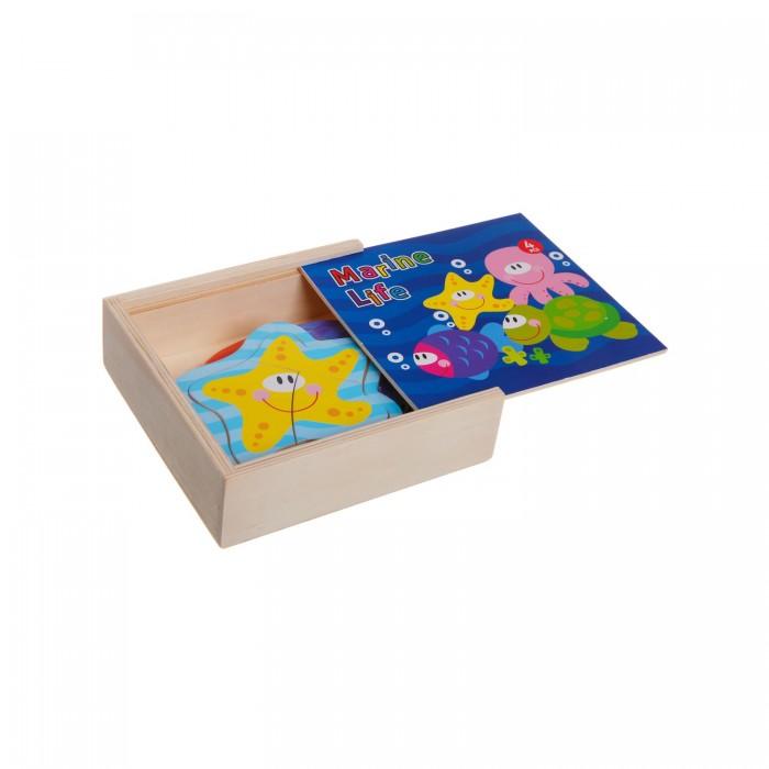Деревянная игрушка Bondibon Игровой набор пазлы Морские обитатели