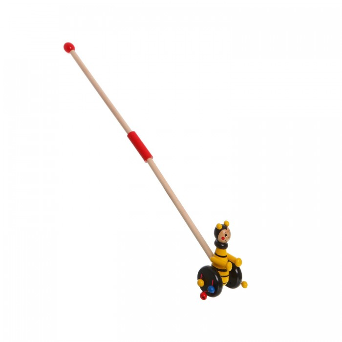 Каталка-игрушка Bondibon Пчелка с ручкой