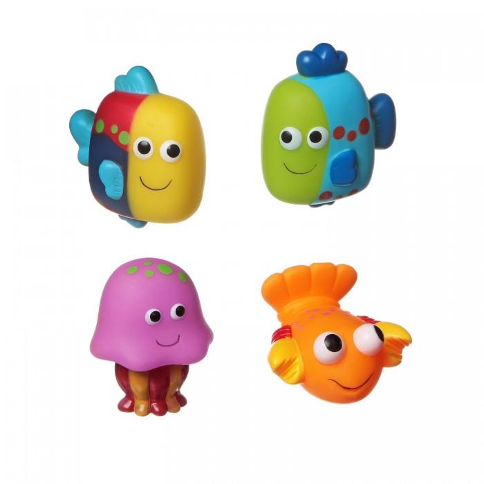 Bondibon Игровой набор для купания 4 шт. ВВ1396Игровой набор для купания 4 шт. ВВ1396Игровой набор для купания рыбки, рак, медуза, 4 шт.  Игрушки для ванной способны превратить ежедневное купание в увлекательное и обучающее занятие. В качестве самой первой игрушки для купания отлично подойдут безопасные и яркие игрушки для купания ТМ Baby You Bondibon! Они сделают процесс купания непринужденным и увлекательным. Малышу будет весьма интересно наблюдать, как игрушки плавают и не тонут.   Кроха обязательно попытается поймать и схватить их. Такие простые действия для взрослых и такие интересные и познавательные для маленького ребенка.   С помощью этих манипуляций малыш разовьет мелкую моторику, познавательные способности и общие двигательные навыки.<br>