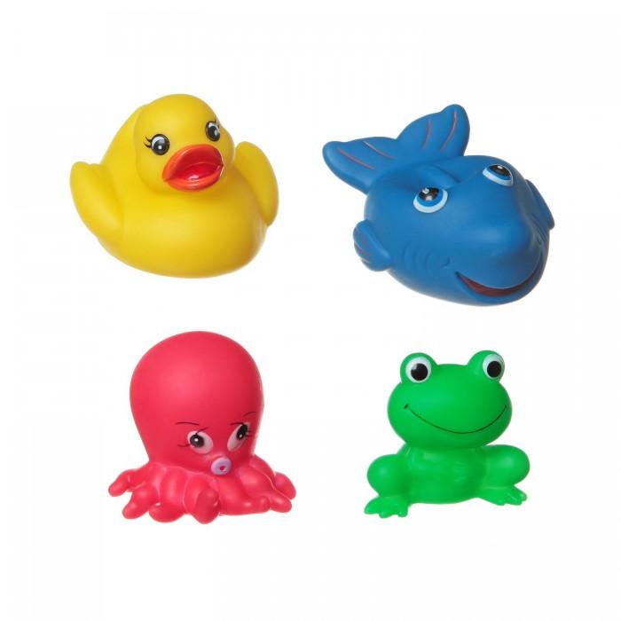 Bondibon Игровой набор для купания 4 шт. ВВ1399Игровой набор для купания 4 шт. ВВ1399Игровой набор для купания акула, лягушка, утка, осьминог, 4 шт.  Игрушки для ванной способны превратить ежедневное купание в увлекательное и обучающее занятие. В качестве самой первой игрушки для купания отлично подойдут безопасные и яркие игрушки для купания ТМ Baby You Bondibon! Они сделают процесс купания непринужденным и увлекательным. Малышу будет весьма интересно наблюдать, как игрушки плавают и не тонут.   Кроха обязательно попытается поймать и схватить их. Такие простые действия для взрослых и такие интересные и познавательные для маленького ребенка.   С помощью этих манипуляций малыш разовьет мелкую моторику, познавательные способности и общие двигательные навыки.<br>
