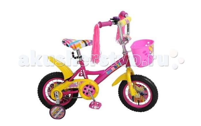 Велосипед двухколесный Navigator Barbie 12 KiteBarbie 12 KiteВелосипед Navigator Barbie 12 Kite - это хорошо собранный и надёжный велосипед для ребёнка. Модель подойдет для ребенка ростом 90-115 см. Детский велосипед с ярким дизайном и популярной лицензией Barbie.  Велосипед оснащен багажником, звонком, мишурой на руле и корзиной для перевозки необходимых мелочей. Катание на велосипеде благоприятно влияет на здоровье, укрепляет мышцы, развивает зрение, учит ориентироваться в пространстве и принимать решения.   Особенности: Тип: детский Материал рамы: сталь Амортизация: отсутствует Конструкция вилки: жесткая Конструкция рулевой колонки: неинтегрированная, резьбовая Диаметр колес: 12 дюймов Материал обода: алюминиевый сплав Двойной обод: нет Шатун: односоставной Возможность крепления боковых колес: есть Тип переднего тормоза: отсутствует Тип заднего тормоза: ножной Уровень заднего тормоза: начальный Количество скоростей: 1 Уровень каретки: начальный Конструкция каретки: неинтегрированная Тип посадочной части вала каретки: квадрат Количество звезд в кассете: 1 Количество звезд системы: 1 Конструкция педалей: платформы Конструкция руля: изогнутый Настройка положения руля: регулируемый подъем Материал рамки седла: сталь Комфорт: защита цепи, мягкая накладка на руле<br>
