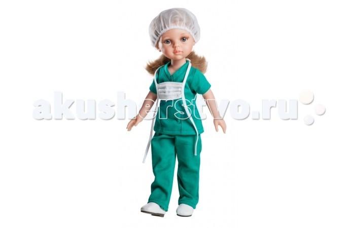 Paola Reina Кукла Карла медсестра школьница 32 смКукла Карла медсестра школьница 32 смPaola Reina Кукла Карла медсестра школьница 32 см   Миловидное личико, шелковистые волосы и яркий наряд – вот то, что ценится в любой кукле. Карла медсестра наделена всеми этими качествами!   Особенности: У куклы Paola Reina нежный ванильный аромат.  Уникальный и неповторимый дизайн лица и тела. Ручная работа (ресницы, веснушки, щечки, губы, прическа). Волосы легко расчесываются и блестят. Глазки не закрываются. Ручки, ножки и голова поворачиваются.  Качество подтверждено нормами безопасности EN71 ЕЭС.   Материалы: кукла изготовлена из винила глаза выполнены в виде кристалла из прозрачного твердого пластика волосы сделаны из высококачественного нейлона.<br>