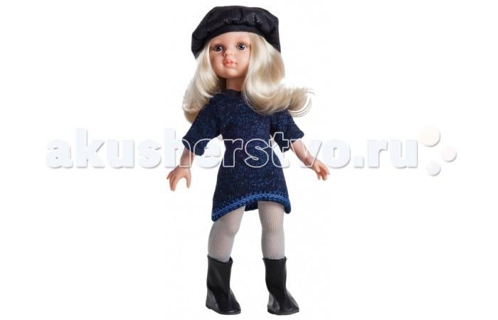 Paola Reina Кукла Клаудия 32 смКукла Клаудия 32 смPaola Reina Кукла Клаудия 32 см - яркая стильная игрушка, которая обязательно понравится каждой девочке и станет ее лучшей подружкой.   Миловидное личико, шелковистые волосы и яркий наряд – вот то, что ценится в любой кукле. Клаудия наделена всеми этими качествами!   Особенности: У куклы Paola Reina нежный ванильный аромат.  Уникальный и неповторимый дизайн лица и тела. Ручная работа (ресницы, веснушки, щечки, губы, прическа). Волосы легко расчесываются и блестят. Глазки не закрываются. Ручки, ножки и голова поворачиваются.  Качество подтверждено нормами безопасности EN71 ЕЭС.   Материалы: кукла изготовлена из винила глаза выполнены в виде кристалла из прозрачного твердого пластика волосы сделаны из высококачественного нейлона.<br>