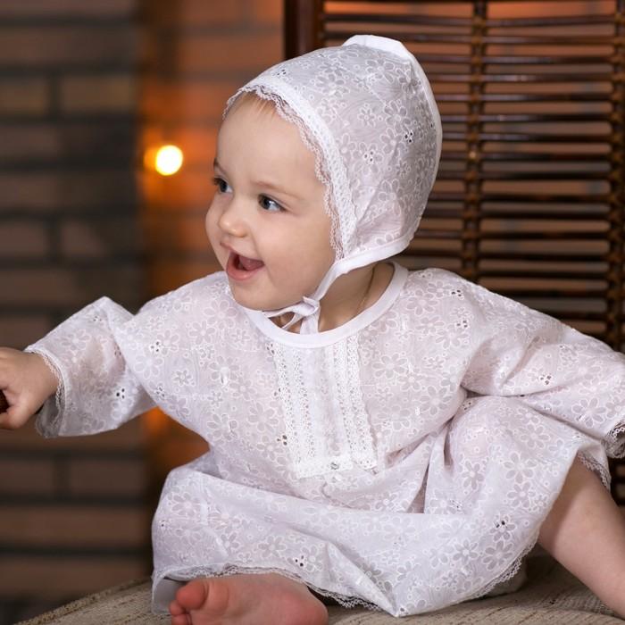 Little People для девочки 3 пр.для девочки 3 пр.Крестильный набор для девочки Little People.  В комплекте: пеленка крестильная рубашка чепчик  Крестильная рубашка завязывается сзади на бантики - ее легко надеть и снять.   Рубашка не будет стеснять движений малыша.  Крестильное полотенчико - так же необходимый предмет в этом священнодействии.  Набор сделан из 100% хлопка и не вызовет аллергии даже у самых чувствительных малышей. На рост: 57-62<br>