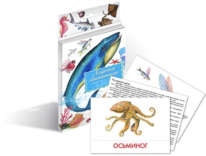 Маленький гений Дидактические карточки Морские обитателиДидактические карточки Морские обитателиМаленький гений Дидактические карточки Морские обитатели. Тематические комплекты дидактических карточек помогут познакомить ребенка с окружающим миром, развить речевые умения, научить сравнивать, классифицировать, обобщать.  Карточки рекомендуются родителям для познавательных игр с детьми и занятий по методике Г. Домана. Могут использоваться в индивидуальной и групповой работе логопедами, психологами, воспитателями детских садов, учителями начальных классов.   В каждом комплекте 16 карточек, каждая из которых содержит интересную познавательную информацию об изображенном на ней предмете.<br>