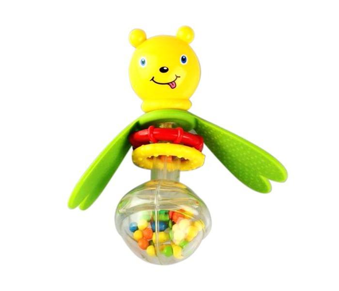 Погремушка Bondibon Пчелка с прорезывателемПчелка с прорезывателемПчелка с прорезывателем.  Яркие игрушки и погремушки ТМ BABY YOU BONDIBON формируют тактильные ощущения, восприятие звуков, цветов и форм. Посредством игры эти игрушки развивают мелкую моторику и воображение Вашего ребенка.<br>