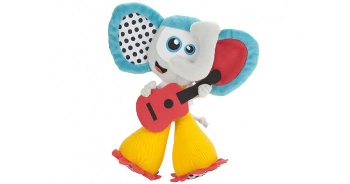 Мягкая игрушка Babymoov Развивающая музыкальная игрушка СлонРазвивающая музыкальная игрушка СлонМузыкальная универсальная игрушка Слон Babymoov с двумя мелодиями. Есть кнопка включения и выключения.<br>