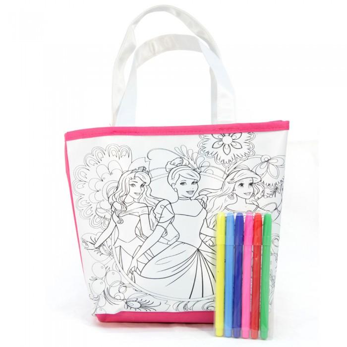 Disney Набор для раскрашивания сумки ПринцессыНабор для раскрашивания сумки ПринцессыDisney Набор для раскрашивания сумки Принцессы.  Набор для раскрашивания сумки - это настоящий подарок для юной модницы и стильной девочки. Благодаря данному набору у Вашей девочки появится уникальная возможность создать стильную дизайнерскую вещь своими руками.   В результате появится эксклюзивный аксессуар, который станет ярким акцентом в образе Вашей дочери благодаря которому она точно не останется без внимания.<br>