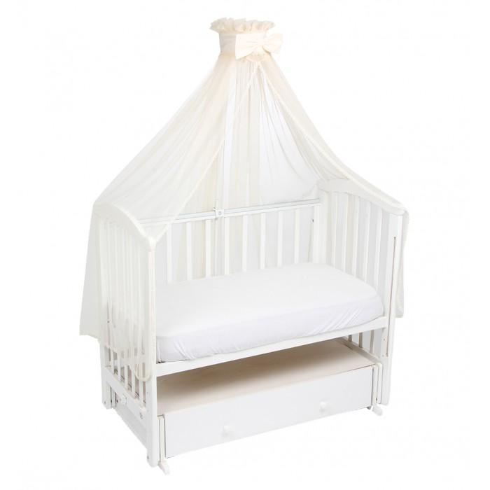 Балдахин для кроватки Зайка моя ПремиумПремиумБалдахин для кроватки выполняет функцию по защите от насекомых и пыли, он станет вторыми шторами для кровати и спальни, оградит от солнечных лучей и лунного света.   Для создания особой атмосферы уюта в спальне балдахин — это идеальный вариант.   Балдахин создает ощущение уюта и красоты. Легко монтируется на любом креплении.  Производится только из экологически чистых и безопасных материалов высокого качества.<br>