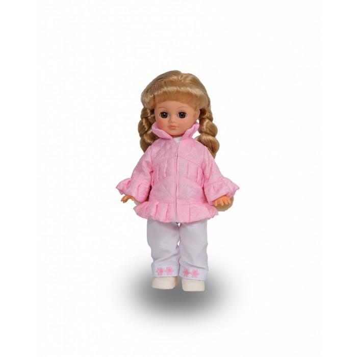 Весна Кукла Олеся 6 42 смКукла Олеся 6 42 смВесна Кукла Олеся 6 (озвученная) покорит сердце любой девочки! Обаятельный внешний вид и прелестные одежки игрушечной красавицы вызывают только самые добрые и положительные эмоции.  Особенности: У милой куклы Олеси глубокие карие глаза и роскошные золотистые косы.  На ней надет очаровательный костюмчик из белой блузочки, брючек и розовой курточки. Комплект дополняют белые башмачки. У Олеси закрываются глазки, и она умеет разговаривать.  При нажатии на звуковое устройство, вставленное в спинку, кукла произносит различные фразы:  - Мама.  - Почитай мне книжку.  - Давай поиграем.  - Есть хочу.  - Хочу спать.  Очаровательная кукла фирмы Весна покорит сердце любой девочки! Обаятельный внешний вид и прелестные одежки игрушечных красавиц вызывают только самые добрые и положительные эмоции. Куклы производятся на российских фабриках из нетоксичных, безопасных для детей материалов. Они отличаются высоким качеством, проработанностью деталей и гармоничными пропорциями тела. Голова и ручки кукол изготовлены из эластичного винила, очень приятного на ощупь, а туловище и ножки - из прочной пластмассы. У кукол густые мягкие волосы, которые можно мыть, расчесывать и заплетать как только захочется. Они прочно закреплены и способны выдержать практически любые творческие порывы ребенка. Особый восторг у маленьких модниц вызывают нарядные костюмы, которые можно снимать и менять. Дополнительно к куклам выпускаются самые разнообразные комплекты одежды. С прелестной куклой отечественного производства возможно не просто весело проводить время, но и научиться одеваться по сезону. Игра с очаровательными куклами поможет развить мелкую моторику, а возможность менять костюмчики и прически формирует эстетический вкус. Милая игрушка станет лучшей подружкой для девочки и научит ребенка доброте и заботе о других.  Производитель оставляет за собой право изменения цветовой гаммы одежды и волос куклы, цвет глаз может варьироваться.<br>