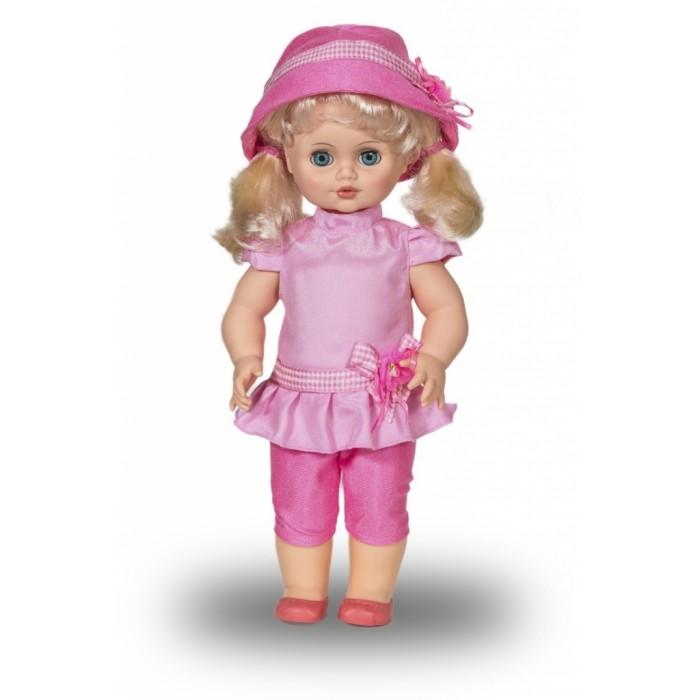 Весна Кукла Инна 49 49 смКукла Инна 49 49 смВесна Кукла Инна 49 (озвученная) покорит сердце любой девочки! Обаятельный внешний вид и прелестные одежки игрушечной красавицы вызывают только самые добрые и положительные эмоции.  Особенности: У ангелочка Инны небесно-голубые глаза и чудесные светлые хвостики.  На ней надет прелестный розовый костюмчик с поясом-цветком, розовые туфельки и шляпка в тон. У Инны закрываются глазки, и она умеет разговаривать.  При нажатии на звуковое устройство, вставленное в спинку, кукла произносит следующие фразы:  - Здравствуй!  - Я – твоя подружка!  - Давай дружить!  Очаровательная кукла фирмы Весна покорит сердце любой девочки! Обаятельный внешний вид и прелестные одежки игрушечных красавиц вызывают только самые добрые и положительные эмоции. Куклы производятся на российских фабриках из нетоксичных, безопасных для детей материалов. Они отличаются высоким качеством, проработанностью деталей и гармоничными пропорциями тела. Голова и ручки кукол изготовлены из эластичного винила, очень приятного на ощупь, а туловище и ножки - из прочной пластмассы. У кукол густые мягкие волосы, которые можно мыть, расчесывать и заплетать как только захочется. Они прочно закреплены и способны выдержать практически любые творческие порывы ребенка. Особый восторг у маленьких модниц вызывают нарядные костюмы, которые можно снимать и менять. Дополнительно к куклам выпускаются самые разнообразные комплекты одежды. С прелестной куклой отечественного производства возможно не просто весело проводить время, но и научиться одеваться по сезону. Игра с очаровательными куклами поможет развить мелкую моторику, а возможность менять костюмчики и прически формирует эстетический вкус. Милая игрушка станет лучшей подружкой для девочки и научит ребенка доброте и заботе о других.  Производитель оставляет за собой право изменения цветовой гаммы одежды и волос куклы, цвет глаз может варьироваться.<br>