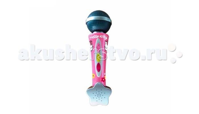 Музыкальная игрушка Smoby Микрофон Hello KittyМикрофон Hello KittyМикрофон Hello Kitty Smoby, яркий стильный в стиле Hello Kitty поможет начать реализовывать мечту стать певицей.  Если совсем юная звезда еще боится выступать на публике, она все равно сможет услышить в свой адрес бурные аплодисменты, которые записаны в память микрофона (розовая кнопка).  Кнопки управления микрофона просты и понятны, ребенок сможет справиться даже без помощи взрослого.  Из-за небольших размеров, микрофон можно легко взять с собой и устроить зажигательный мини-концерт с песнями и танцами в гостях. Длина (дхгхш): 20 см<br>