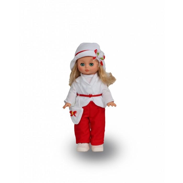 Весна Кукла Жанна 6 42 смКукла Жанна 6 42 смВесна Кукла Кукла Жанна 6 (озвученная) покорит сердце любой девочки! Обаятельный внешний вид и прелестные одежки игрушечной красавицы вызывают только самые добрые и положительные эмоции.   Особенности: У элегантной куклы Жанны зеленые глаза и роскошные золотистые волосы.  На ней нарядный костюмчик: белоснежная блузка, брючки, шапочка и жакет. Комплект дополняют ботиночки и сумочка. У Жанны закрываются глазки, и она умеет разговаривать. При нажатии на звуковое устройство, вставленное в спинку, кукла произносит следующие фразы:  - Здравствуй!  - Я – твоя подружка!  - Давай дружить!  Очаровательная кукла фирмы Весна покорит сердце любой девочки! Обаятельный внешний вид и прелестные одежки игрушечных красавиц вызывают только самые добрые и положительные эмоции. Куклы производятся на российских фабриках из нетоксичных, безопасных для детей материалов. Они отличаются высоким качеством, проработанностью деталей и гармоничными пропорциями тела. Голова и ручки кукол изготовлены из эластичного винила, очень приятного на ощупь, а туловище и ножки - из прочной пластмассы. У кукол густые мягкие волосы, которые можно мыть, расчесывать и заплетать как только захочется. Они прочно закреплены и способны выдержать практически любые творческие порывы ребенка. Особый восторг у маленьких модниц вызывают нарядные костюмы, которые можно снимать и менять. Дополнительно к куклам выпускаются самые разнообразные комплекты одежды. С прелестной куклой отечественного производства возможно не просто весело проводить время, но и научиться одеваться по сезону. Игра с очаровательными куклами поможет развить мелкую моторику, а возможность менять костюмчики и прически формирует эстетический вкус. Милая игрушка станет лучшей подружкой для девочки и научит ребенка доброте и заботе о других.  Производитель оставляет за собой право изменения цветовой гаммы одежды и волос куклы, цвет глаз может варьироваться.<br>