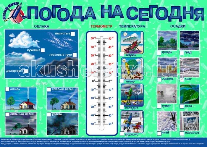 Маленький гений Плакат Погода на сегодня