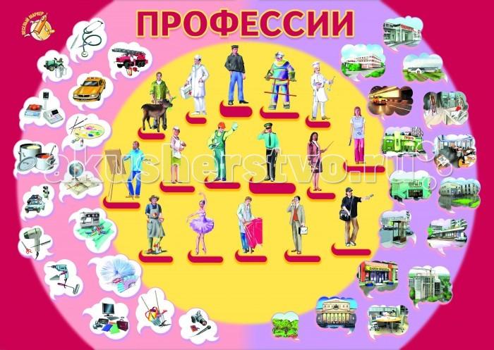 Маленький гений Плакат ПрофессииПлакат ПрофессииМаленький гений Плакат Профессии. Обучающие плакаты - незаменимый наглядный материал для увлекательного изучения окружающего мира, математики, русского языка.   Благодаря логичной структуре плакатов ребенок легко запоминает информацию. Знания подаются наглядно и обобщенно, в доступной и привлекательной форме.   В каждом плакате есть игры и вопросы для детей и рекомендации дня взрослых.<br>