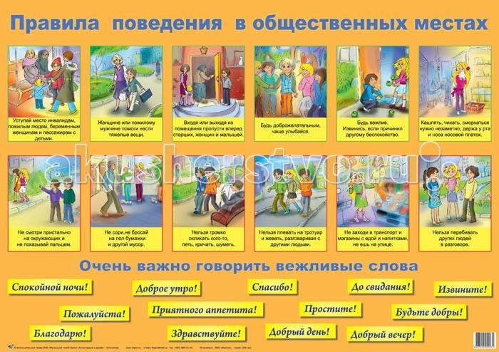 Маленький гений Плакат Правила поведенияПлакат Правила поведенияМаленький гений Плакат Правила поведения. Обучающие плакаты - незаменимый наглядный материал для увлекательного изучения окружающего мира, математики, русского языка.   Благодаря логичной структуре плакатов ребенок легко запоминает информацию. Знания подаются наглядно и обобщенно, в доступной и привлекательной форме.   В каждом плакате есть игры и вопросы для детей и рекомендации дня взрослых.<br>