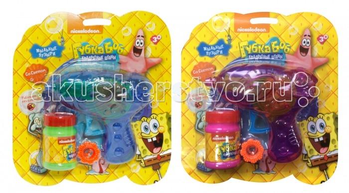 1 Toy Набор с мыльными пузырями Губка БобНабор с мыльными пузырями Губка БобМыльные пузыри - это отличный способ порадовать ребенка разноцветными, переливающимися шарами.   Мыльные пузыри доставят море удовольствия Вашим детям.  В наборе присутствует специальный мыльный пистолет, который выпускает большие красивые пузыри. Пистолет механический со светом, батареек не требуется.  Также в комплекте бутылочка 50 мл. с мыльным раствором.  Мыльный раствор нетоксичен, он не вызывает у детей раздражение и аллергию.  Внимание! Товар в ассортименте!<br>