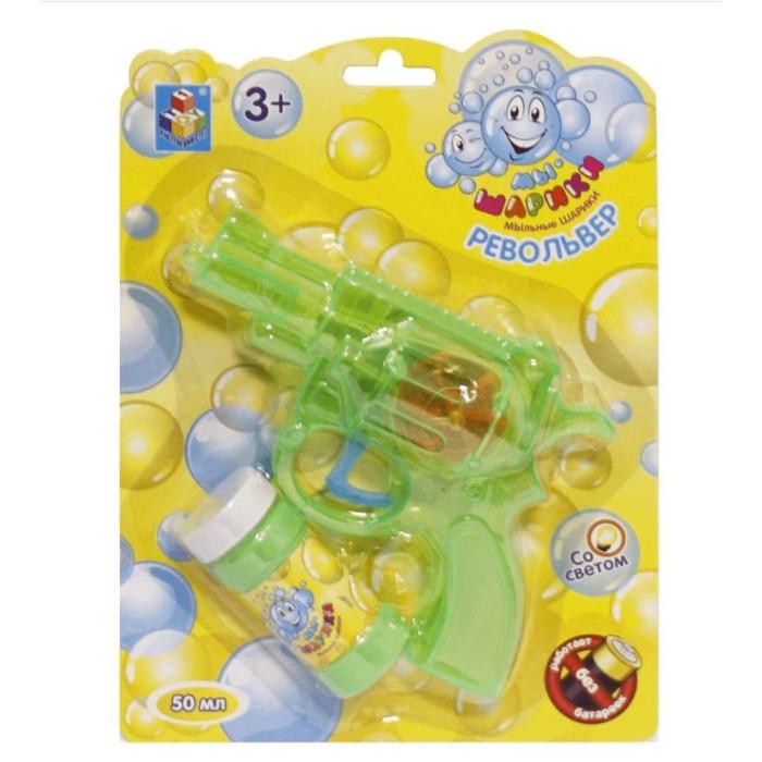 1 Toy Мыльные пузыри Мы-шарики! Т58740Мыльные пузыри Мы-шарики! Т58740Мыльные пузыри - это отличный способ порадовать ребенка разноцветными, переливающимися шарами.   Мыльные пузыри доставят море удовольствия Вашим детям.  В наборе присутствует специальный мыльный пистолет-револьвер, который выпускает большие красивые пузыри. Пистолет механический со светом, батареек не требуется.  Также в комплекте бутылочка 50 мл. с мыльным раствором.  Мыльный раствор нетоксичен, он не вызывает у детей раздражение и аллергию.  Внимание! Товар в ассортименте!<br>