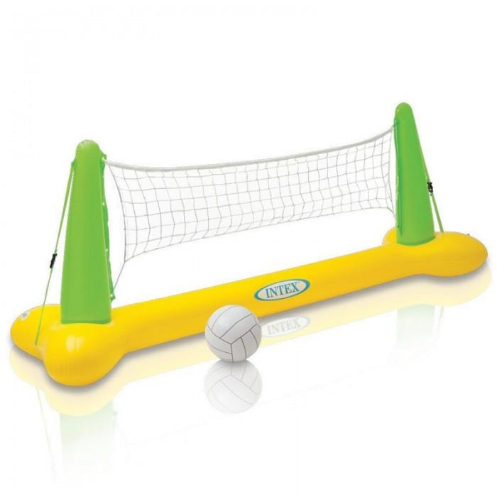 Intex Набор для игры в волейболНабор для игры в волейболНабор для волейбола Intex 56508 из сетки на надувном основании и надувного мяча.  Предназначен для игр в бассейне или на водоеме со спокойной водой. Большой размер сетки позволяет участвовать в игре сразу нескольким игрокам с каждой стороны.  И дети и взрослые незабываемо проведут время. Играя в волейбол на воде, Ваши дети научатся быстро плавать. Эта модель изготовлена из высококачественных материалов, что гарантирует прочность и долговечность.   Размеры: 239х64х91 см.<br>