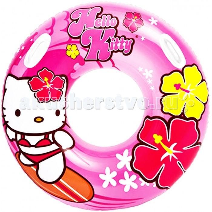 Intex Надувной круг с ручками Hello Kitty 97 см