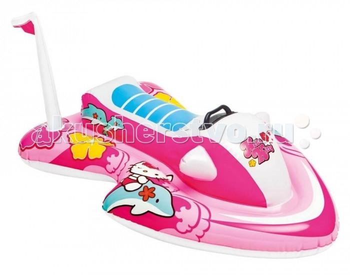 Intex Надувная игрушка Hello KittyНадувная игрушка Hello KittyНадувная игрушка Hello Kitty - это детская игрушка для плавания, которая изготовлена из плотного винила.  Игрушка очень устойчива на воде и имеет две прочные ручки-держатели по бокам для удобного захвата.  Плотик сделан из легкого материала, поэтому отлично держится на воде. Будьте осторожнее с острыми колющими и режущими предметами.  Плотик способен выдерживать лишь небольшие нагрузки. Предназначен для детей от 3 лет.  При необходимости его можно всегда быстро сдуть, так как он оснащен удобным двойным клапаном.  Размер надувной игрушки: 117 х 77 см<br>