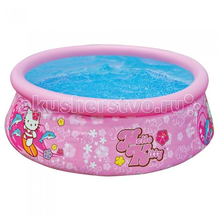 Бассейн Intex Easy Set Hello Kitty 183х51 смEasy Set Hello Kitty 183х51 смНадувной бассейн Intex Easy Set обладает двумя важными качествами: простотой конструкции и лёгким весом.   В верхней части предусмотрено надувное кольцо, которое по мере наполнения бассейна водой, поднимает и расправляет стенки, обеспечивая необходимую устойчивость. Всего 10 минут потребуется на установку конструкции.   Технология Super-Touch (сочетание винила и полиэстра), используемая в производстве, наделяет материал тройной прочностью, стойкостью к ударам, воздействию солнечного света, растягиваниям и стираниям.   Надувные бассейны, за счет отсутствия металлического каркаса, удобны в хранении и в сложенном виде не займут много места. Модель оснащена клапаном для удобства слива воды и разъемами для подключения фильтрующих и хлорирующих устройств.   В комплекте также идет ремкомплект. С его помощью вы сможете устранить самостоятельно какие-либо механические повреждения на изделии, приобретенные в ходе его использования.  Размер: 183х51 см.  Вместимость бассейна: 886 л.  Вес: 2.9 кг.<br>