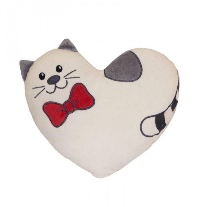 Gulliver Подушка котик Тимур 25 смПодушка котик Тимур 25 смПодушка котик Тимур 25 см  Познакомьтесь, это кот Тимур-мур. Бабочка на шее Тимура является родимым пятном, которым он гордится. Еще бы! Такая идеальная форма, да еще и красного цвета.<br>