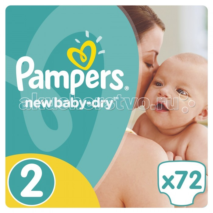 Pampers ���������� New Baby Dry Mini �.2 (3-6 ��) 72 ��.