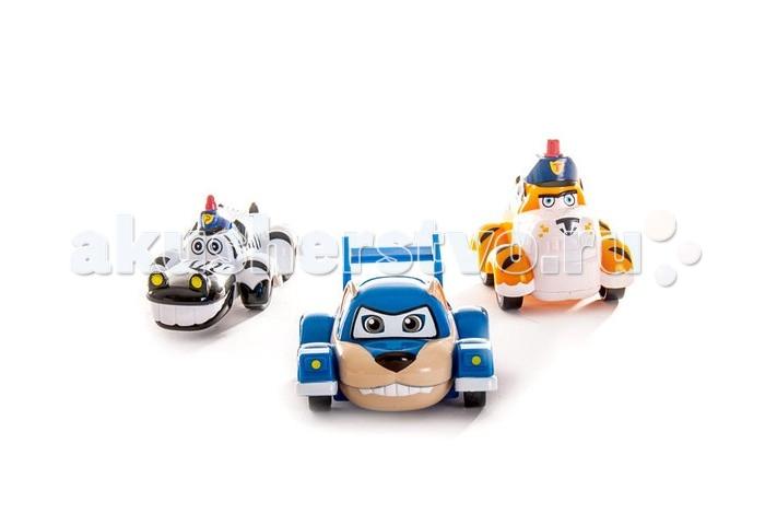 Vroomiz Набор инерционных машинок Банги, Лайонел, Мак ТигрНабор инерционных машинок Банги, Лайонел, Мак ТигрНабор инерционных машинок Банги, Лайонел, Мак Тигр  В набор инерционных машинок входит три автомобильчика – ловкая и озорная обезьянка Банги, гордый и сильный как настоящий лев – Лайонел и строгий, но справедливый шеф полиции Зиппи Сити – Мак Тигр.<br>