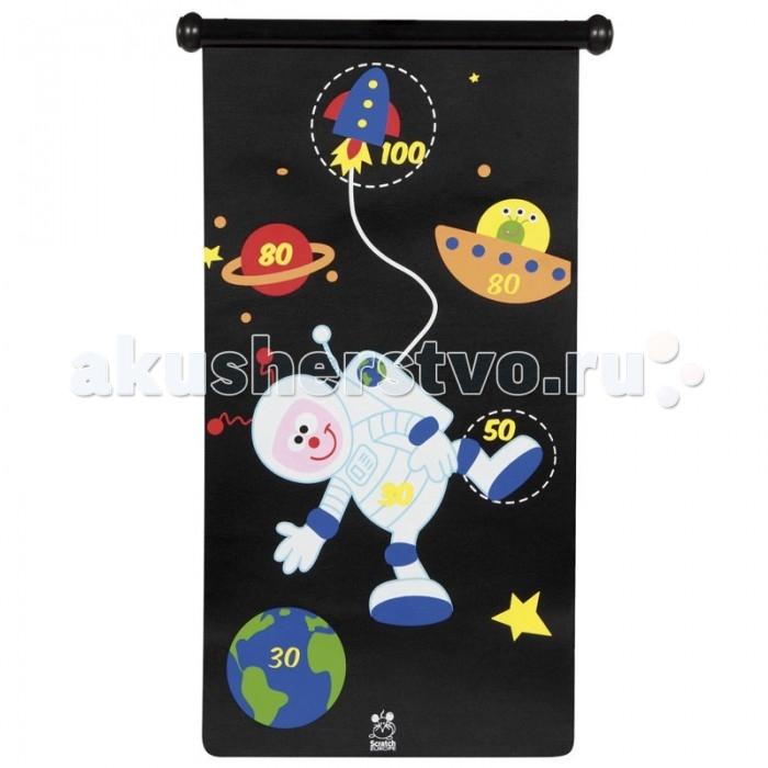 Scratch   Дартс АстронавтДартс АстронавтScratch Дартс Астронавт.  Дартс Астронавт подойдёт для любителей космоса. Дартс состоит из 6 -ти магнитных дротиков и двухсторонней яркой картинки, которую можно повесить на стену или дверь детской.<br>